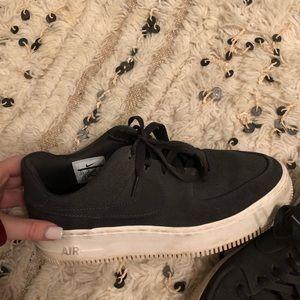 Grey Nike Air Force ones